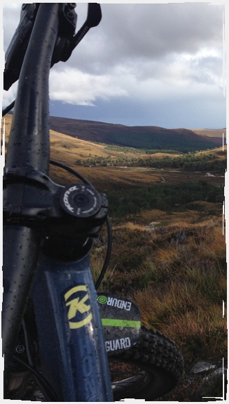 Guided Ride Kona bikes - Views of Deeside