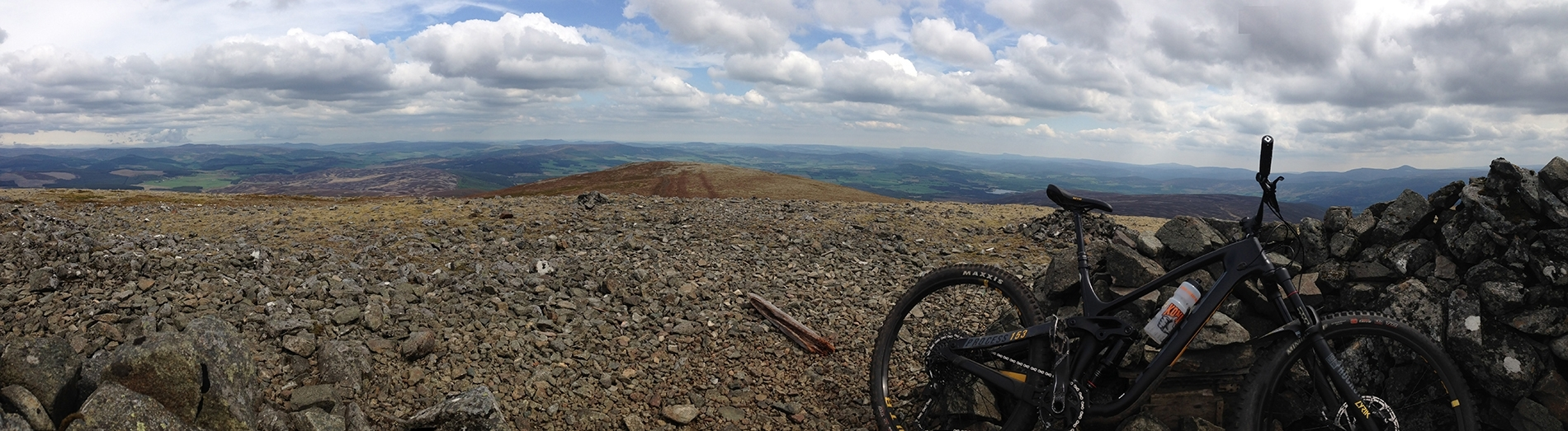 Guided Ride - Views from top of Morven - Aberdeenshire