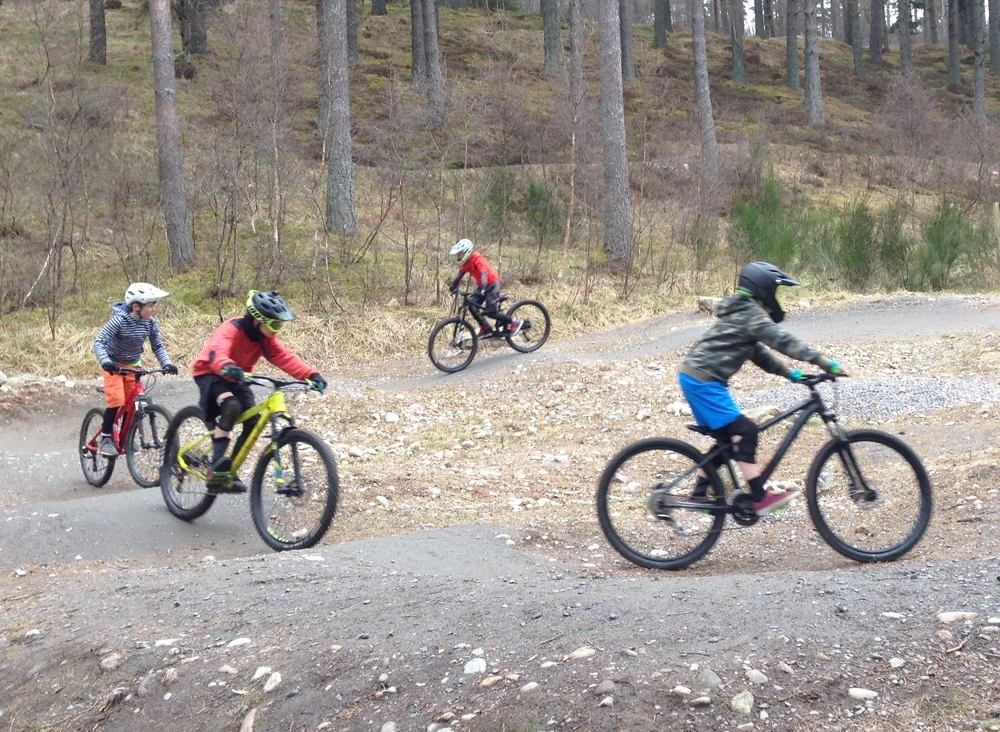 Little RIPAs coaching Aboyne Bike Park pumptrack